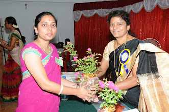 Photo: Ms. Deepthi with Dr. Aruna Devi - Executive, POWER