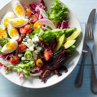Healthy Cobb Salad with Portabella Bacon.