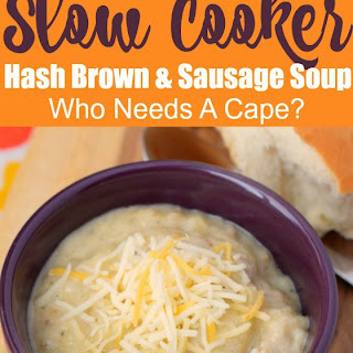 Creamy Slow Cooker Hash Brown & Sausage Soup Recipe