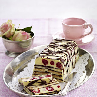 Fruity White Chocolate Refrigerator Cake.