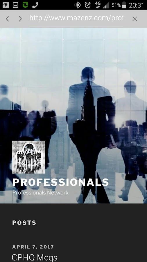 Professionals- screenshot