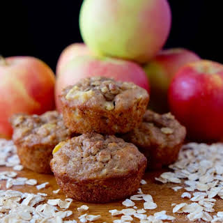Apple Oatmeal Muffins, A Whole Grain Muffin.