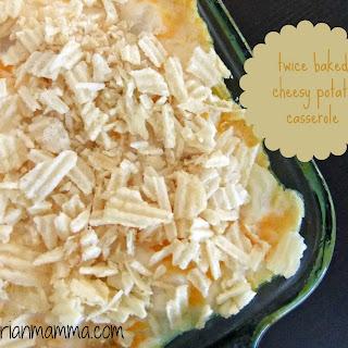 Twice Baked Cheesy Potato Casserole – #glutenfree #vegan