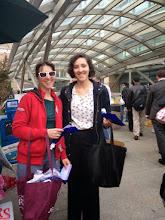 Photo: 4.15.15 WMATA/CASS/SSH/DCRCC anti-harassment flyering at the Metro in Washington, DC area