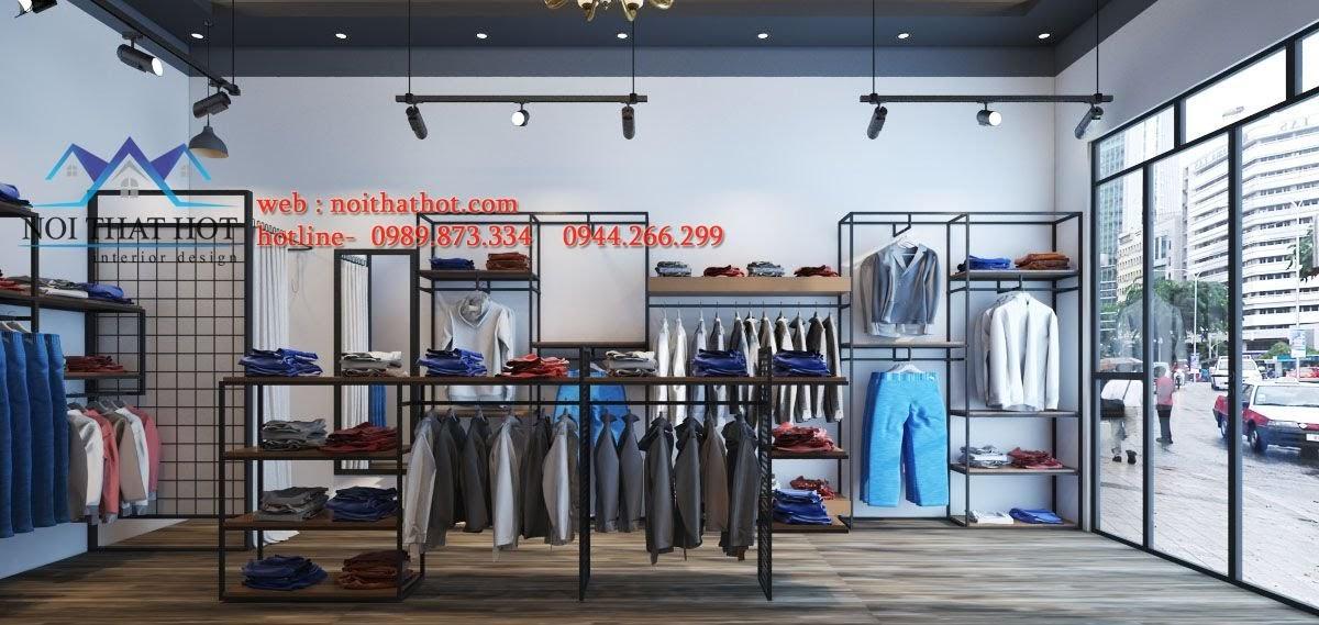 thiết kế shop thời trang nam đẹp mắt
