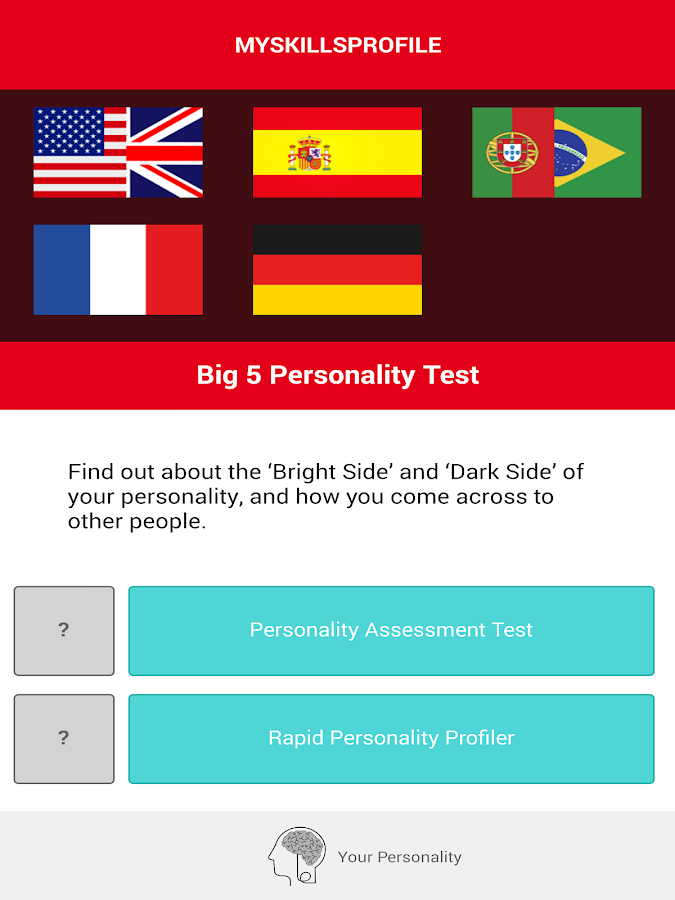 Big 5 Personality Test- screenshot