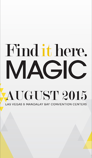 MAGIC Tradeshow August 2015