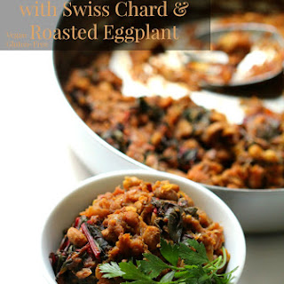 Black Eyed Pea Curry with Swiss Chard & Roasted Eggplant