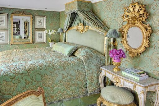 A suite aboard SS Maria Theresa, named for a former Austrian royal