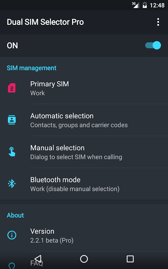 Dual SIM Selector- screenshot