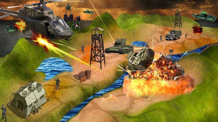 Gunship Air Helicopter War 3D screenshot