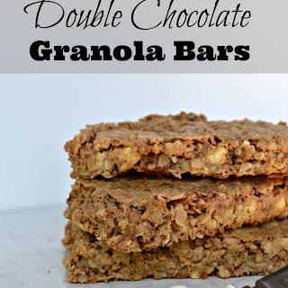 Double Chocolate Granola Bars.