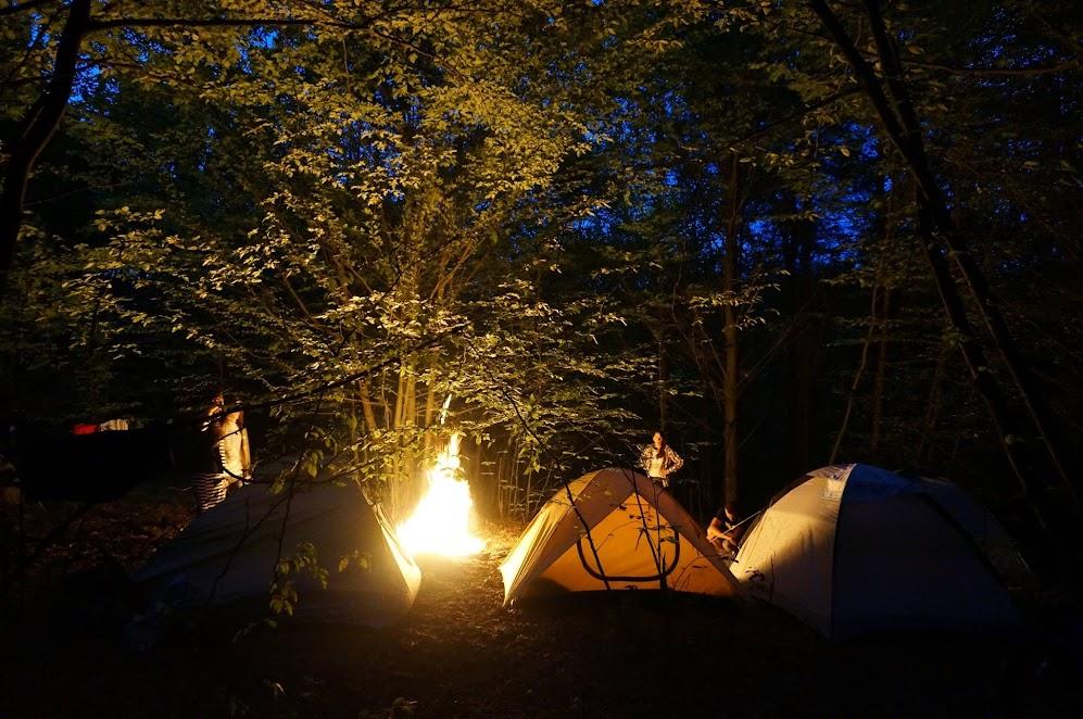 вечір, табір