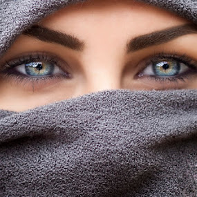 Nestel by Anna Anastasova - People Portraits of Women ( girl, beautiful, blue eyes, beauty, eyes,  )