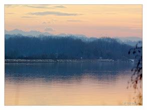 Photo: Sonnenuntergang am Fluss Inn  Sunset Inn on the River  Datum und Uhrzeit2011:01:09 14:56:39