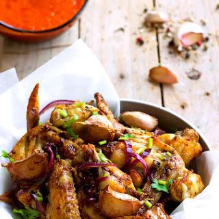 Baked Garlic Chicken Wings.
