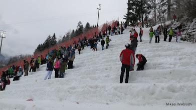 Photo: Våra ståplatser i snö.