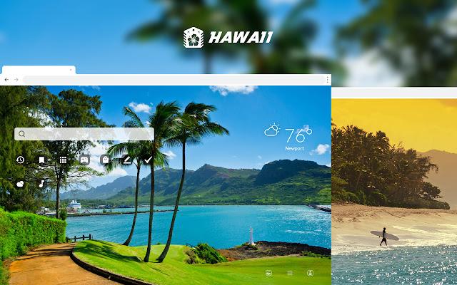 Hawaii HD Wallpaper New tab Theme