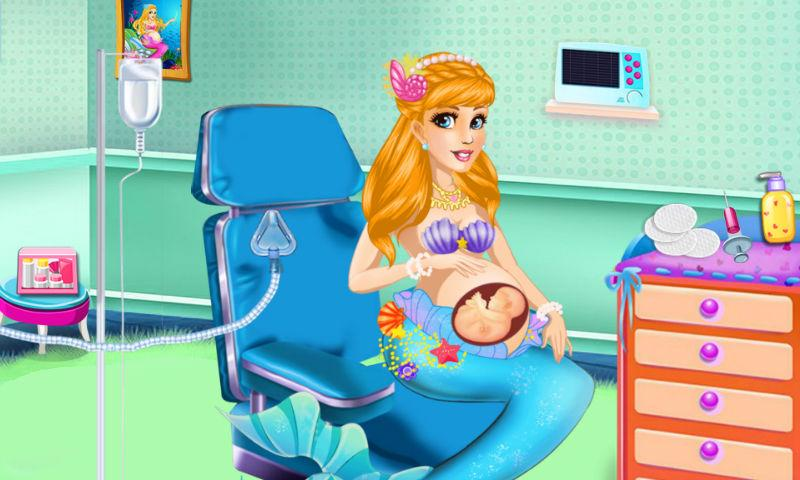 android Mermaid Mommy's New Baby-Care Screenshot 1