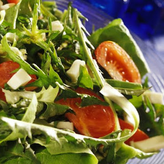 Diced Feta and Mixed Leaf Salad