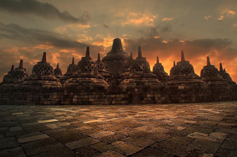 candi Borobudur by Irwan Setiawan - Buildings & Architecture Statues & Monuments ( temple yogyakarta indonesia landscape, landscape, borobudur )