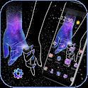Galaxy Hand in Hand Romantic Love Theme icon