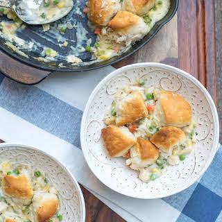 Skillet Chicken and Biscuit Pot Pie.