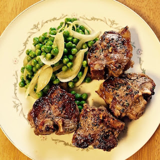Grilled Lamb Chops with Rosemary and Mint.