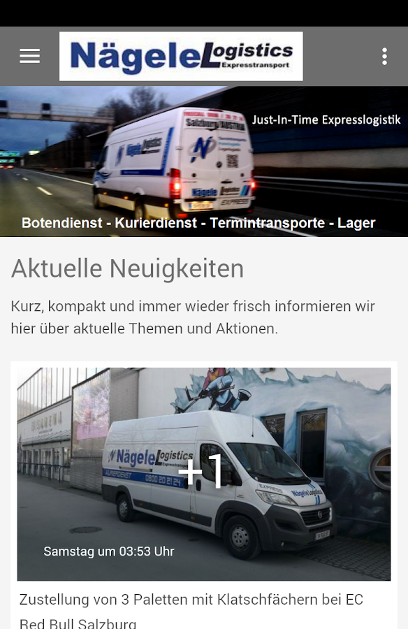 NägeleLogistics Express – Screenshot