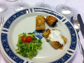 Photo: Appetizers at Cune winery in La Rioja.