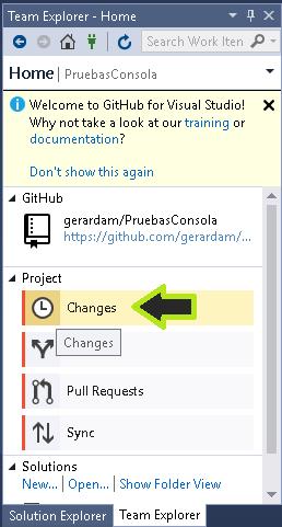 Subir código a GitHub con Visual Studio 2017