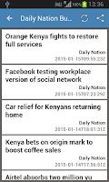 Screenshot of Kenya Newspapers
