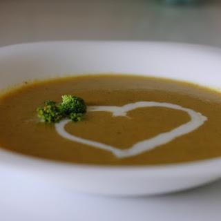 Carrots And Broccoli Cream Soup