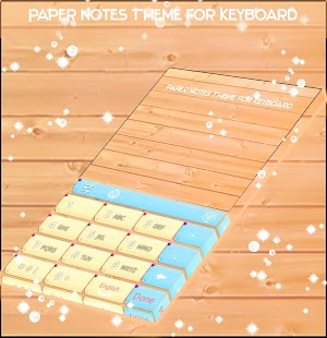 Paper Notes Theme for Keyboard - náhled