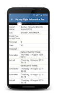 Screenshot of Melbourne Airport FlightPal