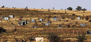 Shacks have sprung up on a farm land owned by three black businessmen in Soshanguve, north of Pretoria.