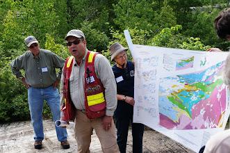 Photo: Dr. George Hudak explaining where we are geologically.