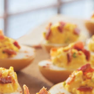 Smoked Deviled Eggs.