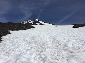 Photo: Snowfield leading to Lunch Counter (camping area)