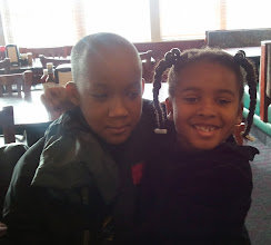 Photo: awww...kaleya loves her brother!