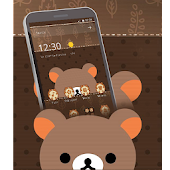 Cute Cartoon Brown Bear Theme Android APK Download Free By Fantastic Design