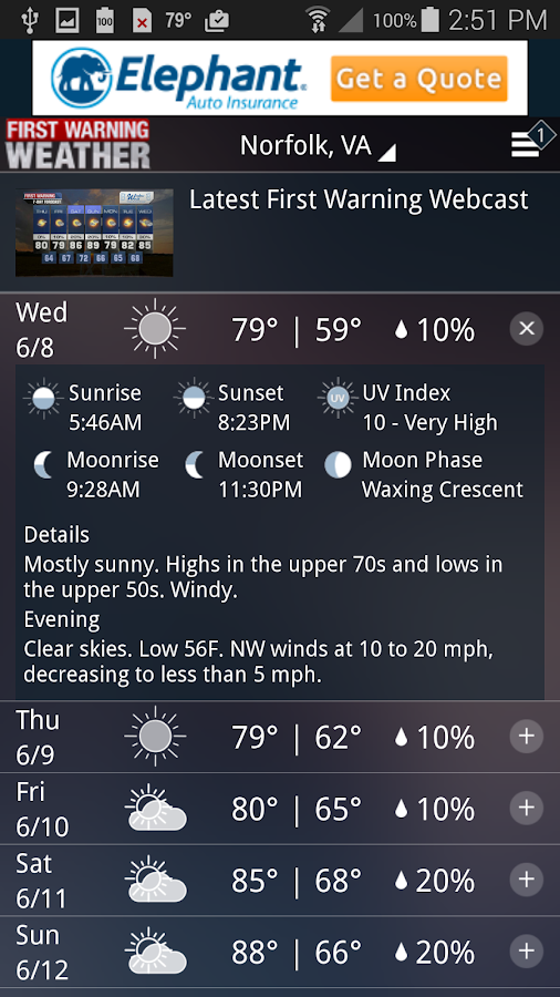 WTKR Weather- screenshot