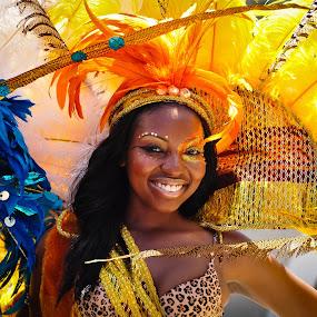 Caribbean Carnival  by Johannes Schaffert - People Musicians & Entertainers ( carnival, toronto, samba, pwccandidcelebrations, dancer )