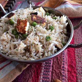 Paneer Pilaf / Rice infused with Indian Spices and Topped with Indian Cottage Cheese