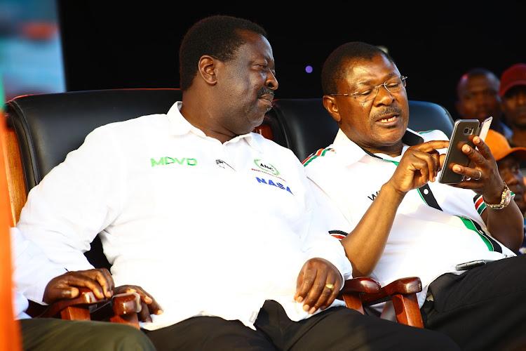 ANC Leader Musalia Mudavadi and Ford Kenya Counterpart Moses Wetangula