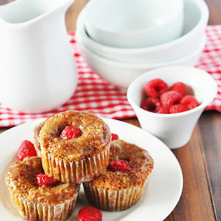 Glazed Raspberry Muffin (Gluten-Free,Vegan)