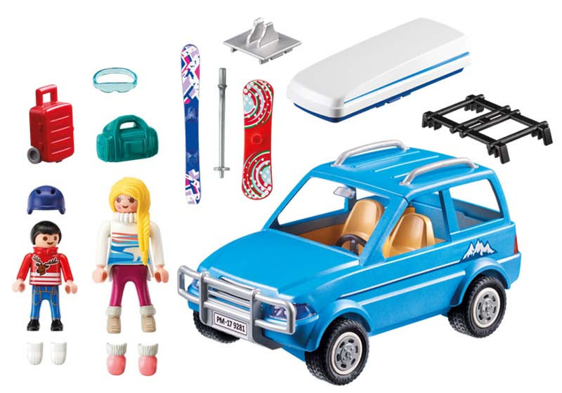 Contenido real de Playmobil® 9281 Coche
