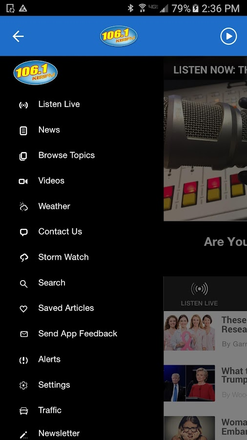 106.1 KISS FM - Evansville's Pop Radio (WDKS)- screenshot