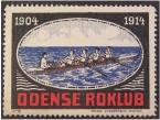 Photo: 1914 Odense Roklub 10 års jubilæums-frimærke.