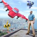 Flying Car City Thug Racing icon